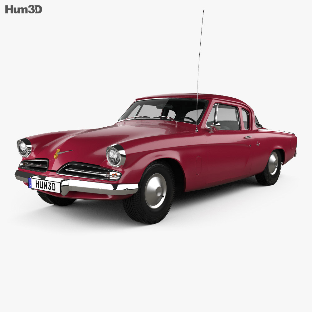 Studebaker Champion (Commander) Starlight Coupe 1953 3d model