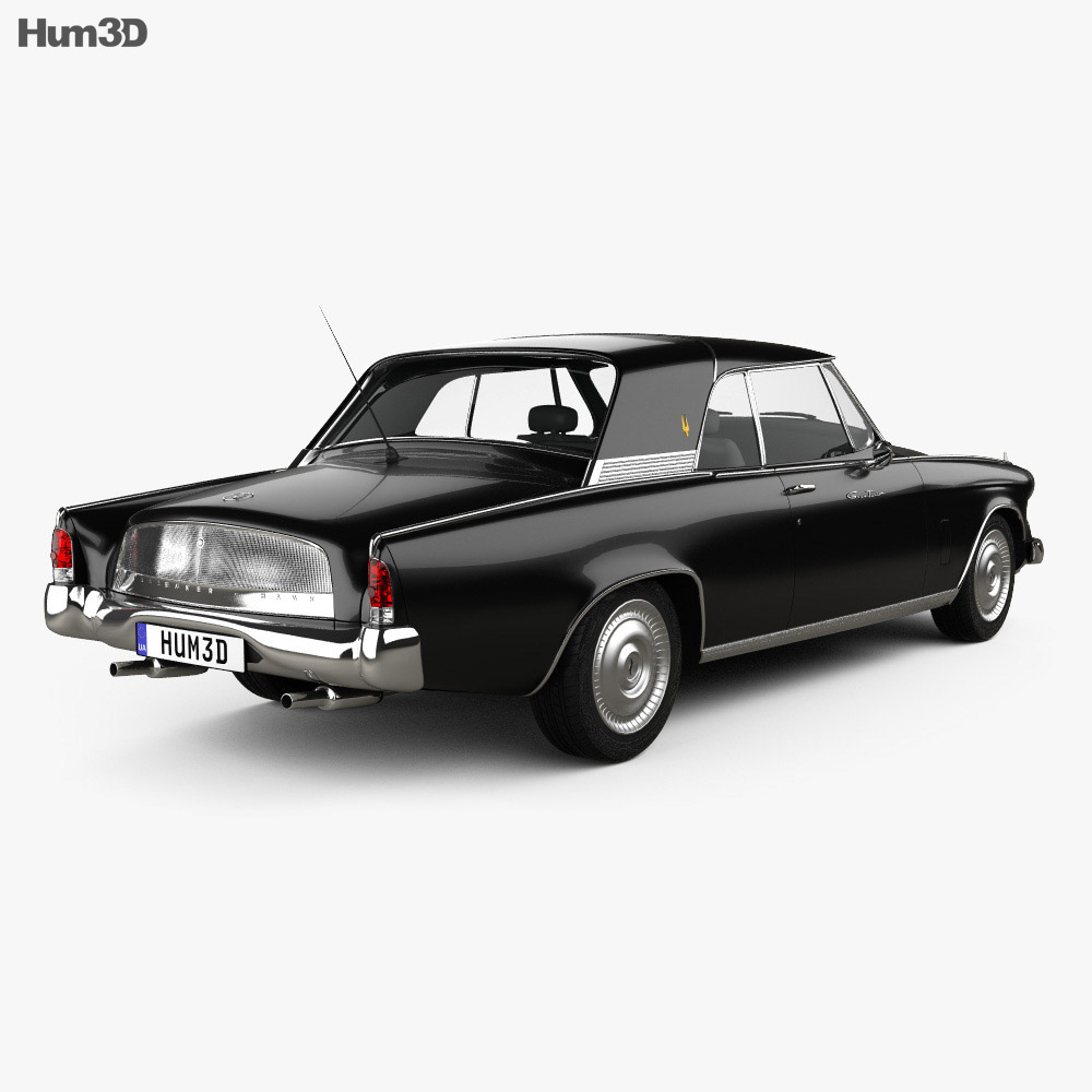 Studebaker Gran Turismo Hawk 1963 3d model