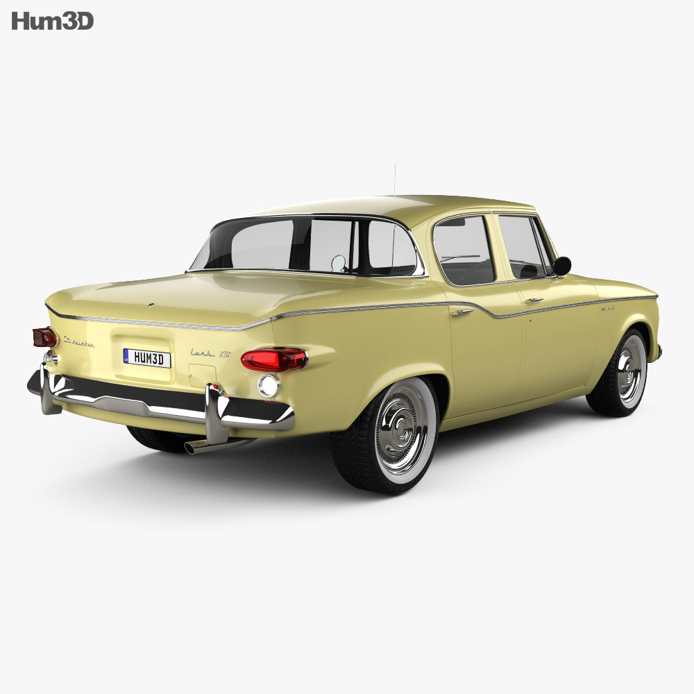 Studebaker Lark sedan 1960 3d model