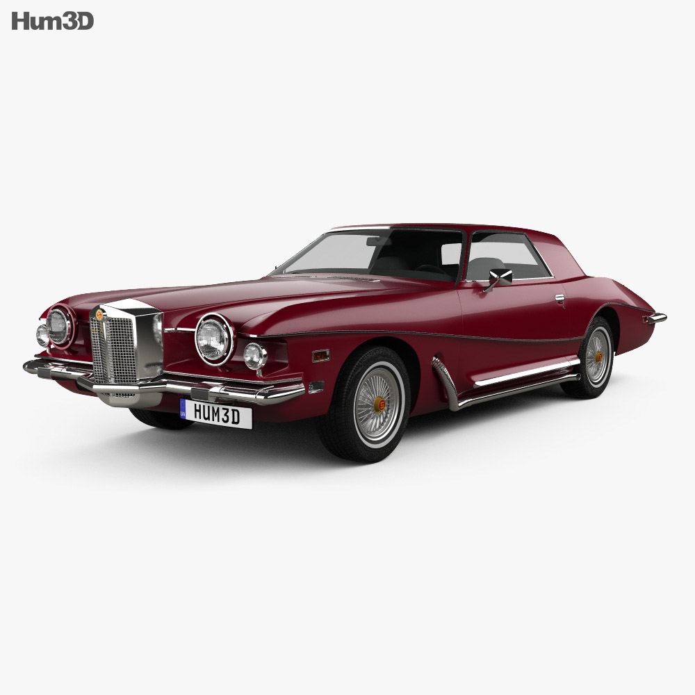 3D model of Stutz Blackhawk IV 1974