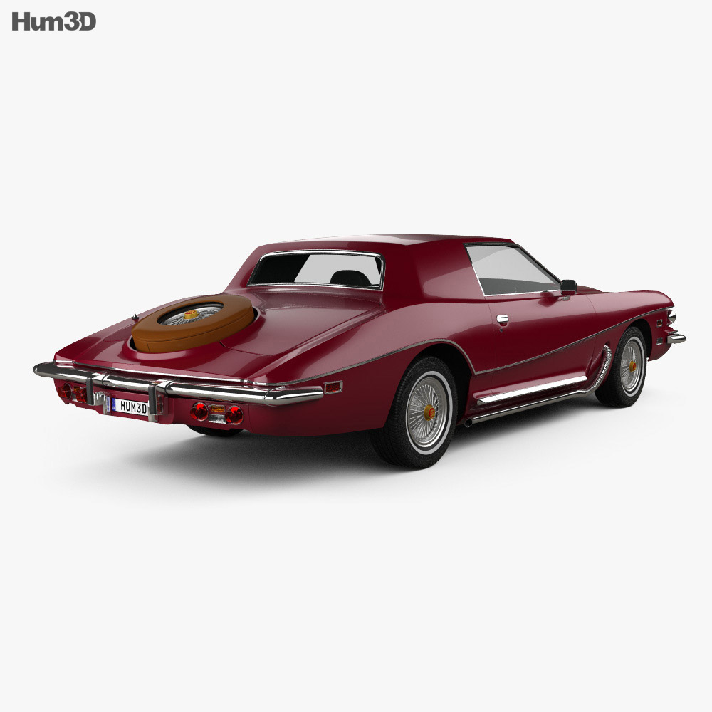 Stutz Blackhawk IV 1974 3d model