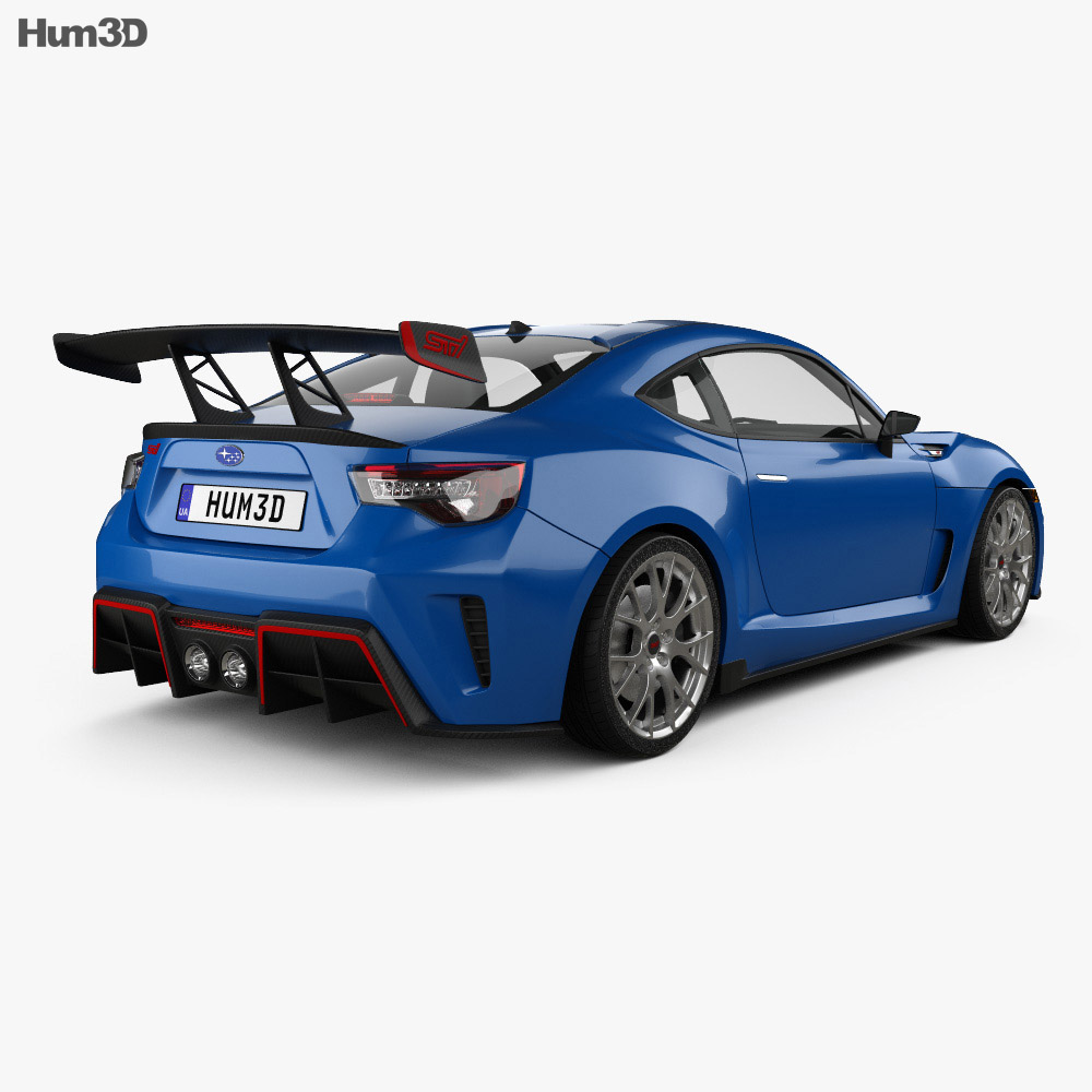 subaru brz sti performance concept 2015 3d model hum3d. Black Bedroom Furniture Sets. Home Design Ideas