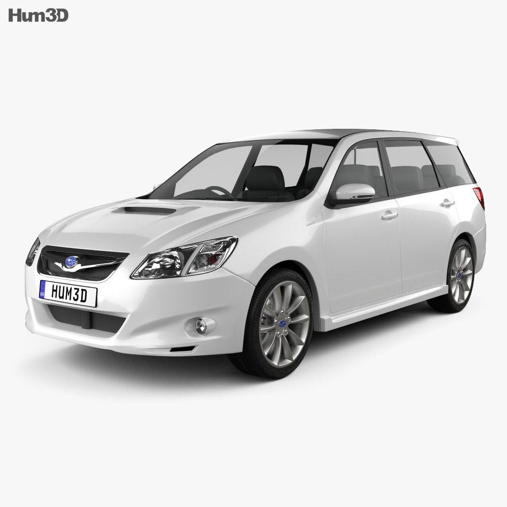 Subaru Exiga 2008 3d model