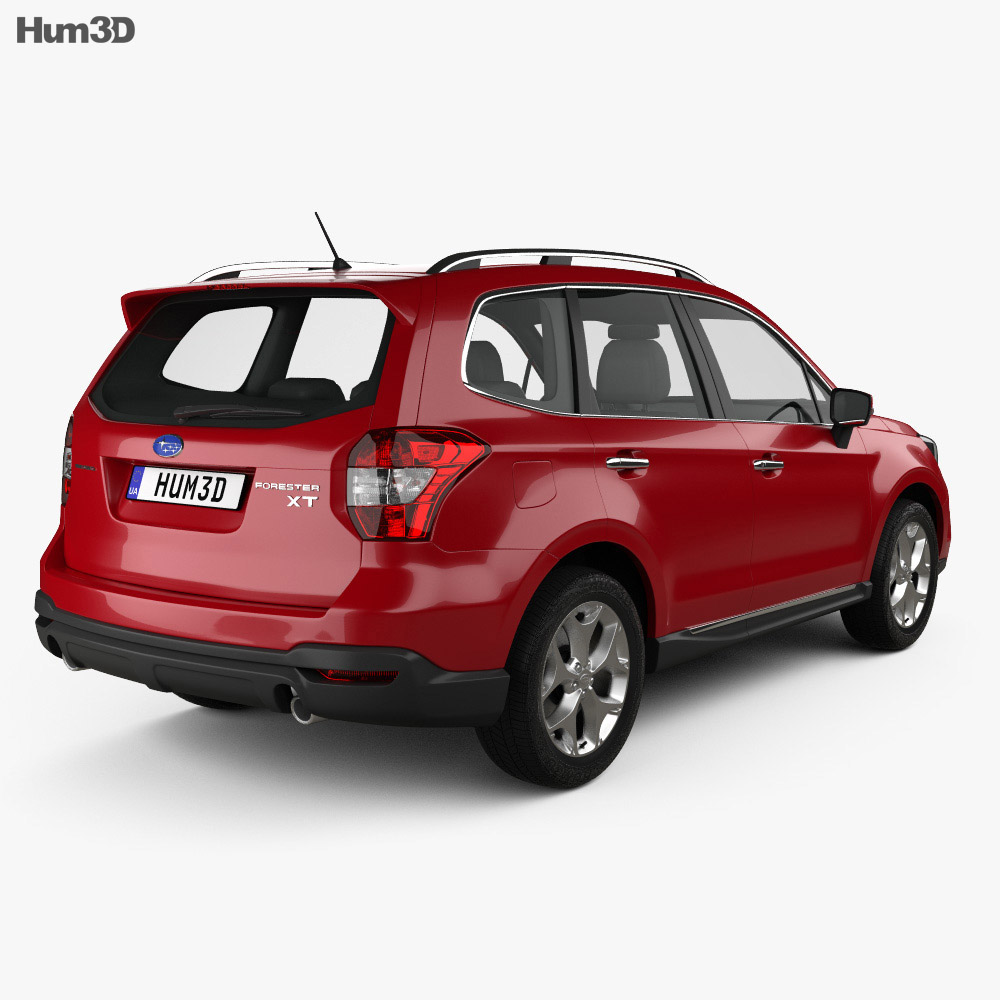 Subaru Forester (US) 2014 3d model back view