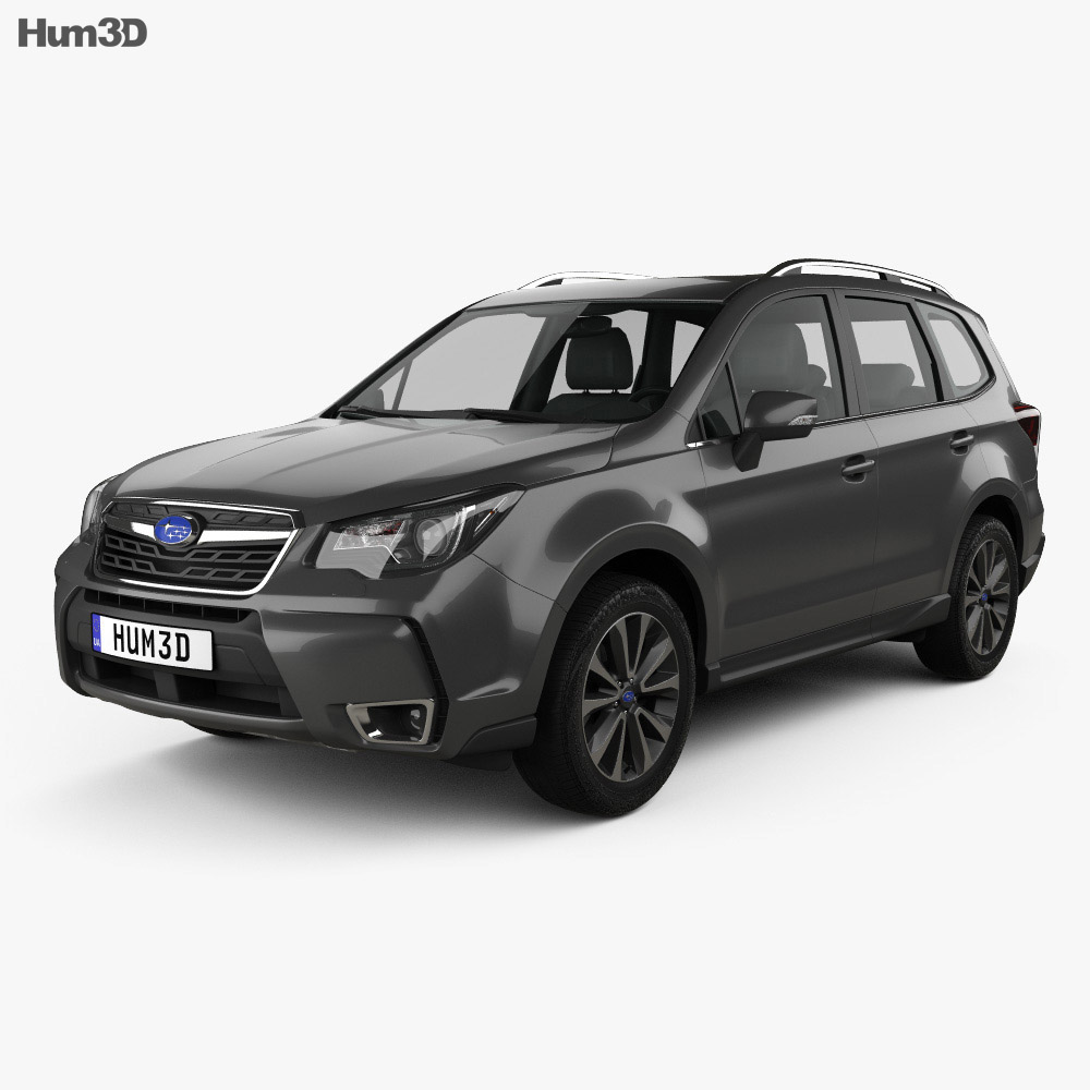 subaru forester xt touring 2016 3d model hum3d. Black Bedroom Furniture Sets. Home Design Ideas