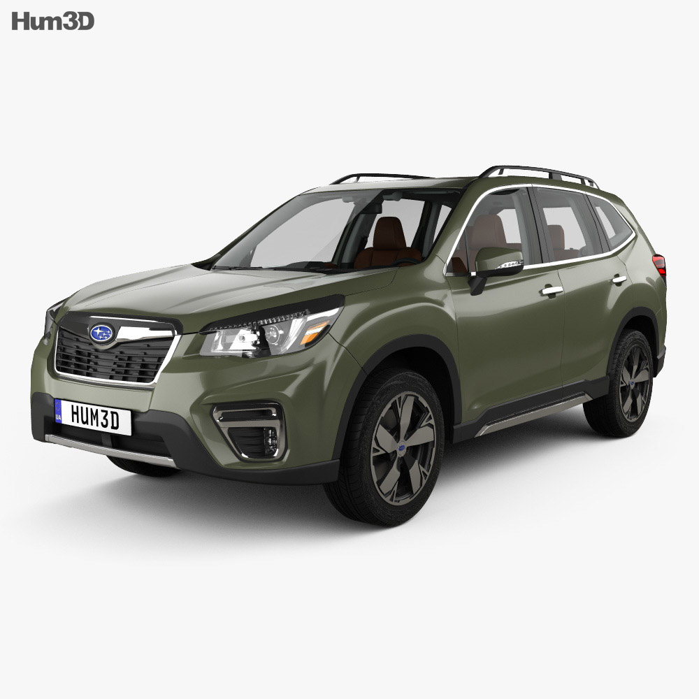 Subaru Forester Touring with HQ interior 2018 3d model