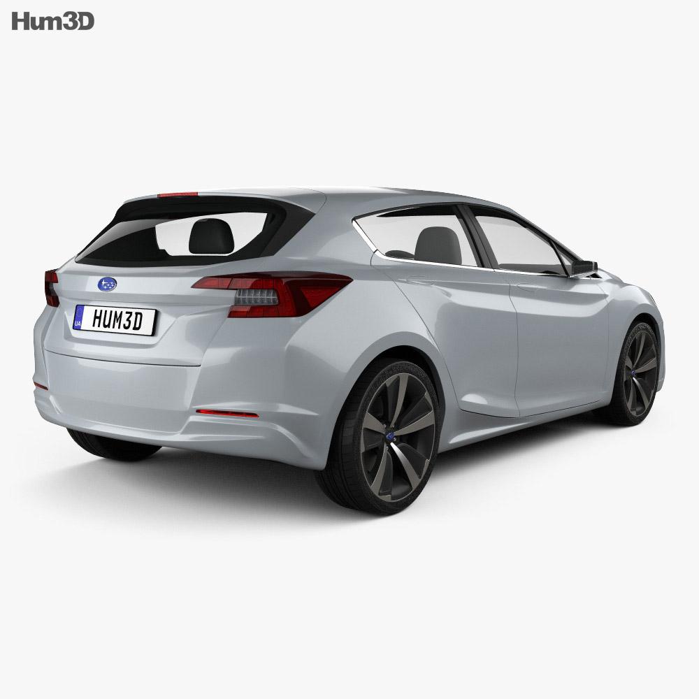 subaru impreza 5 door hatcback 2015 3d model humster3d. Black Bedroom Furniture Sets. Home Design Ideas