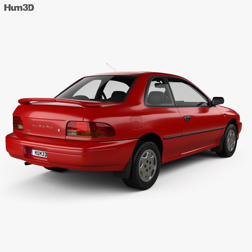 Subaru Impreza Coupe with HQ interior 1995 3d model
