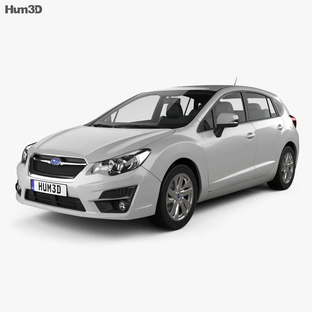 Subaru Impreza hatchback 2015 3d model