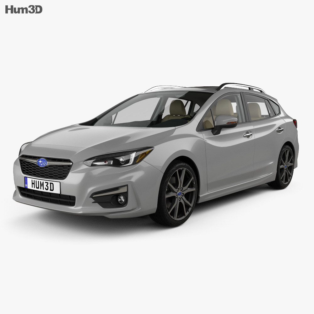 Subaru Impreza 5-door hatchback with HQ interior 2016 3d model