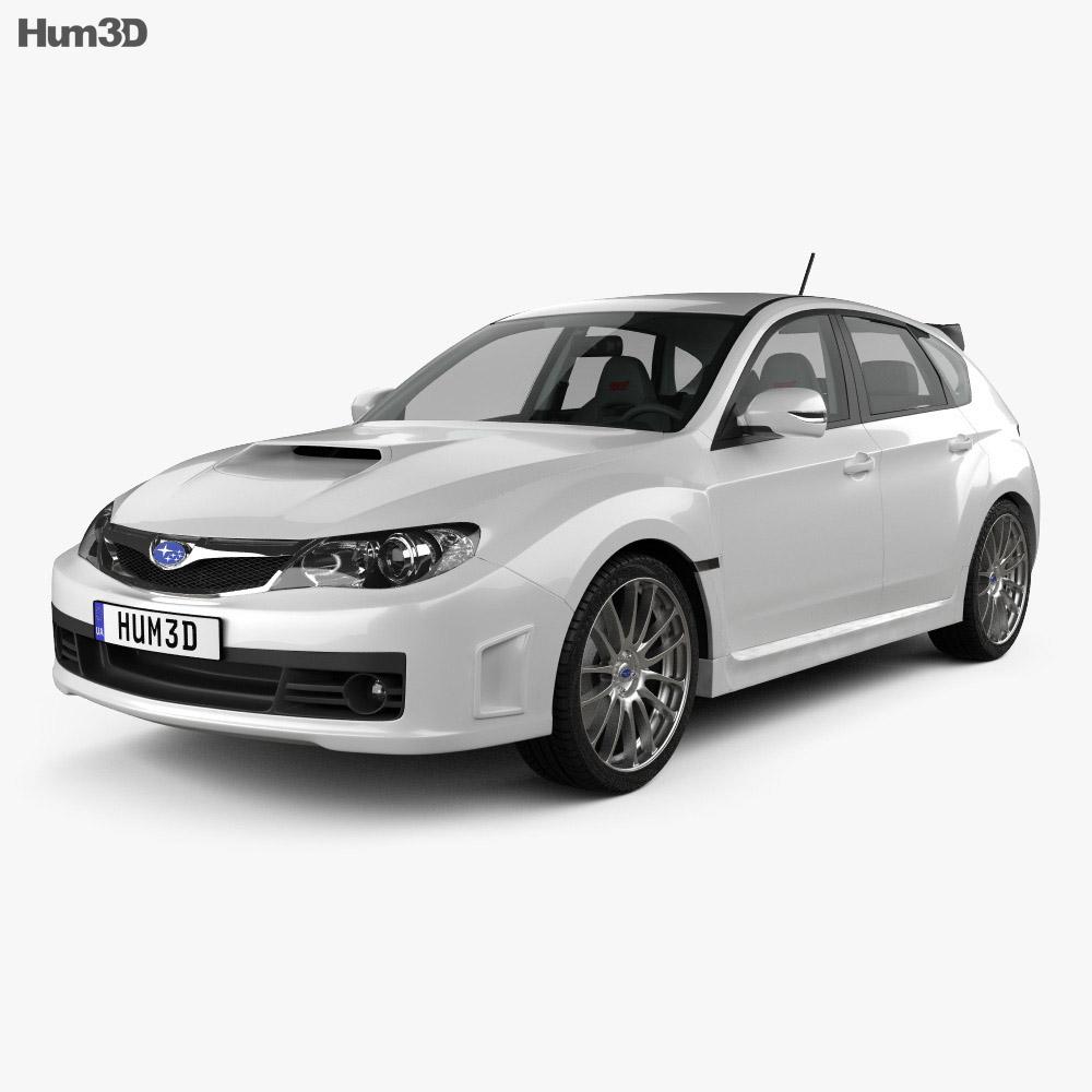 Subaru Impreza WRX STI with HQ interior 2010 3d model