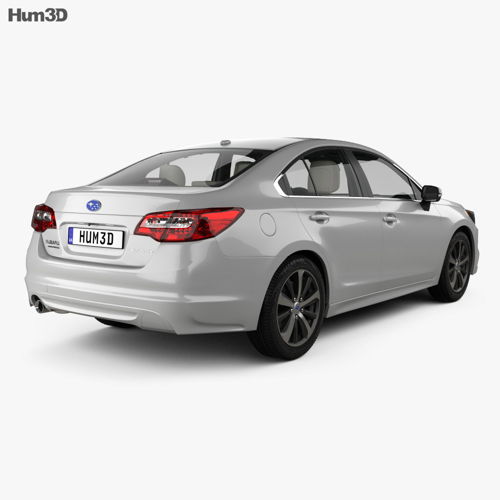 Subaru Legacy with HQ interior 2014 3d model