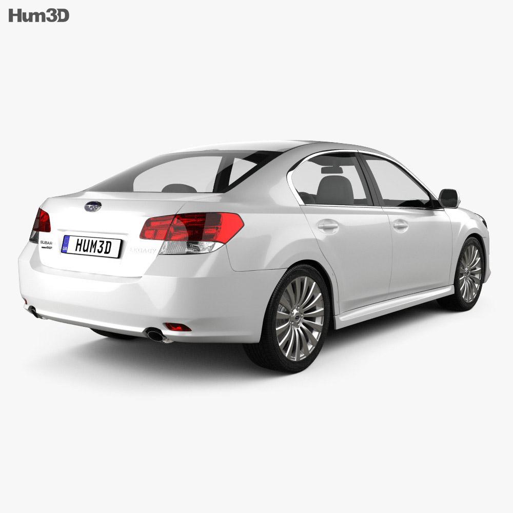 Subaru Legacy (Liberty) sedan 2010 3d model