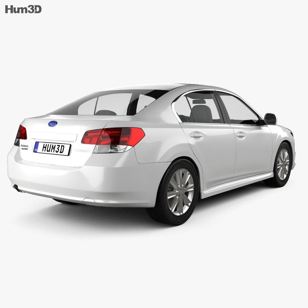 Subaru Legacy sedan US 2011 3d model