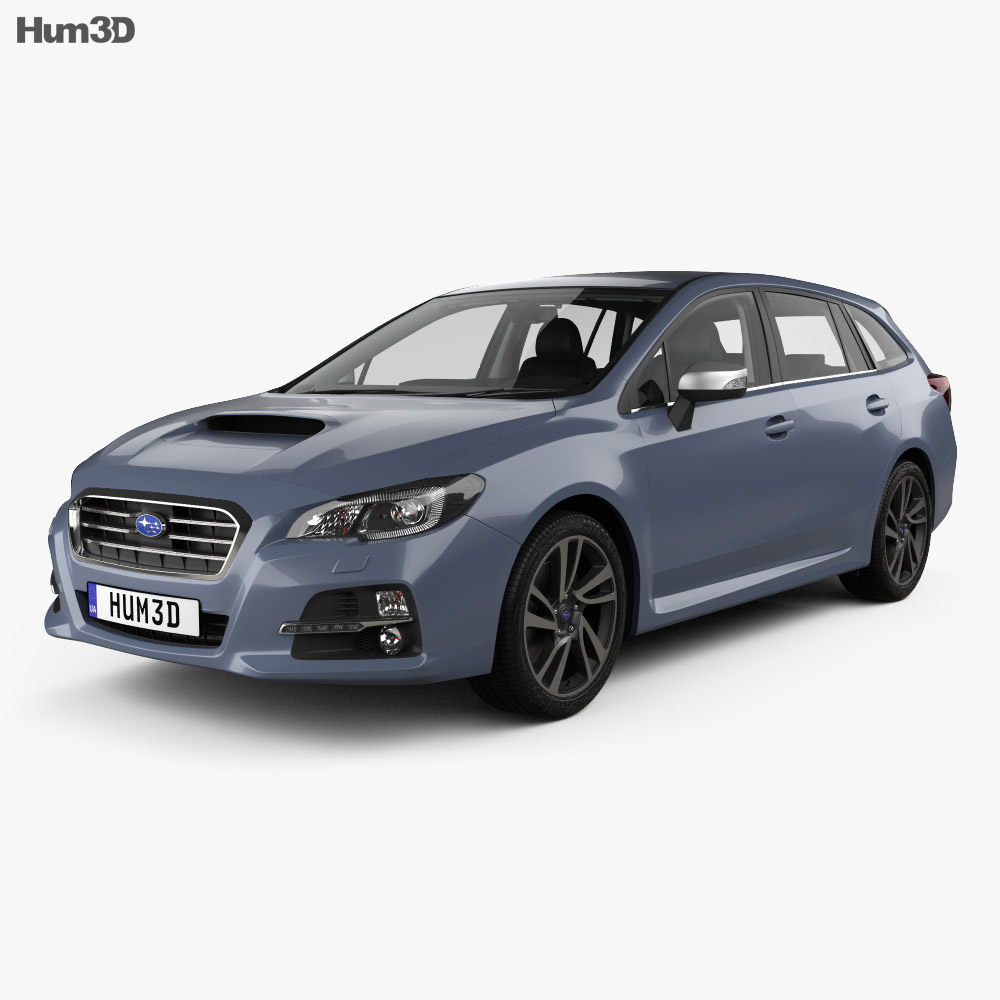 Subaru Levorg with HQ interior 2015 3d model