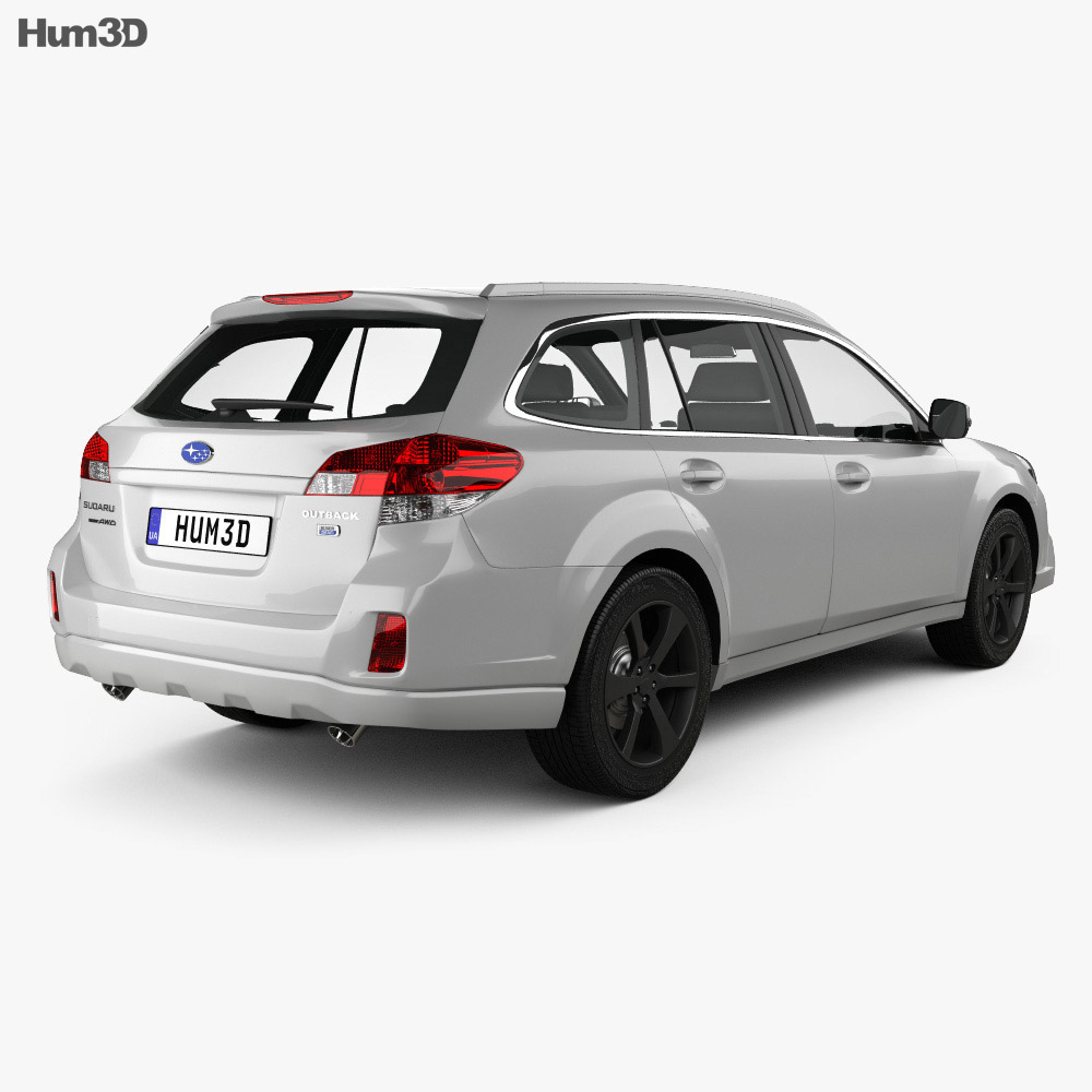 Subaru Outback SX 2012 3d model