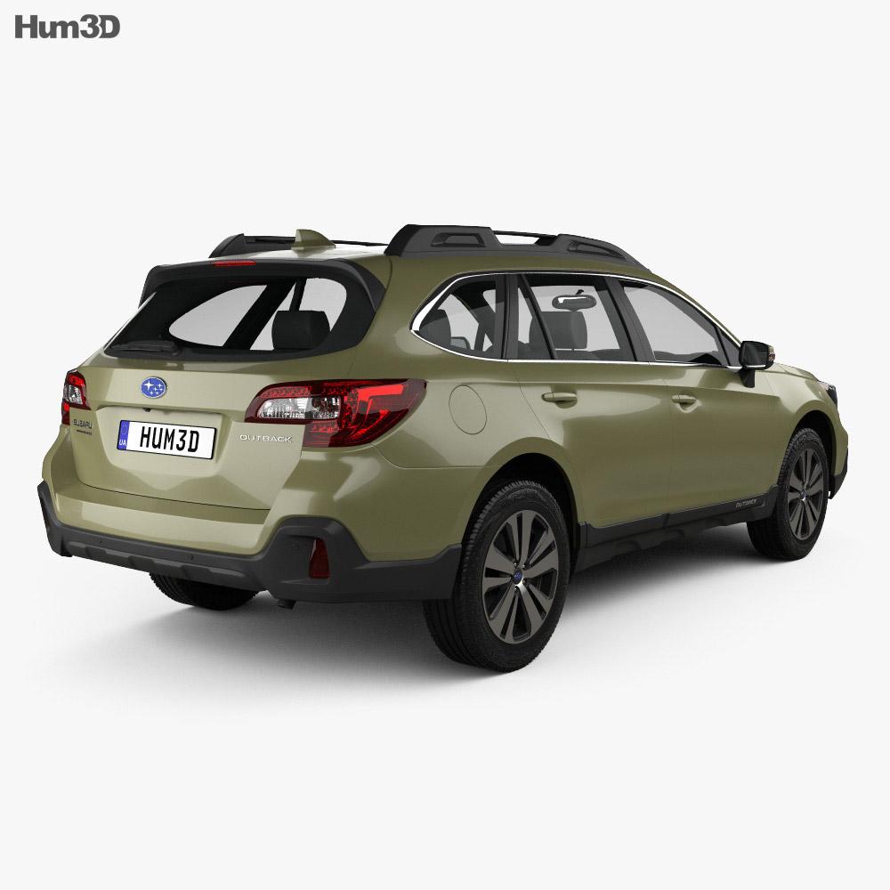 Subaru Outback US-spec 2017 3d model back view
