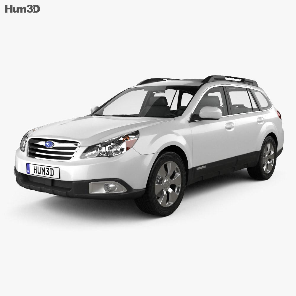 Subaru Outback US 2011 3d model