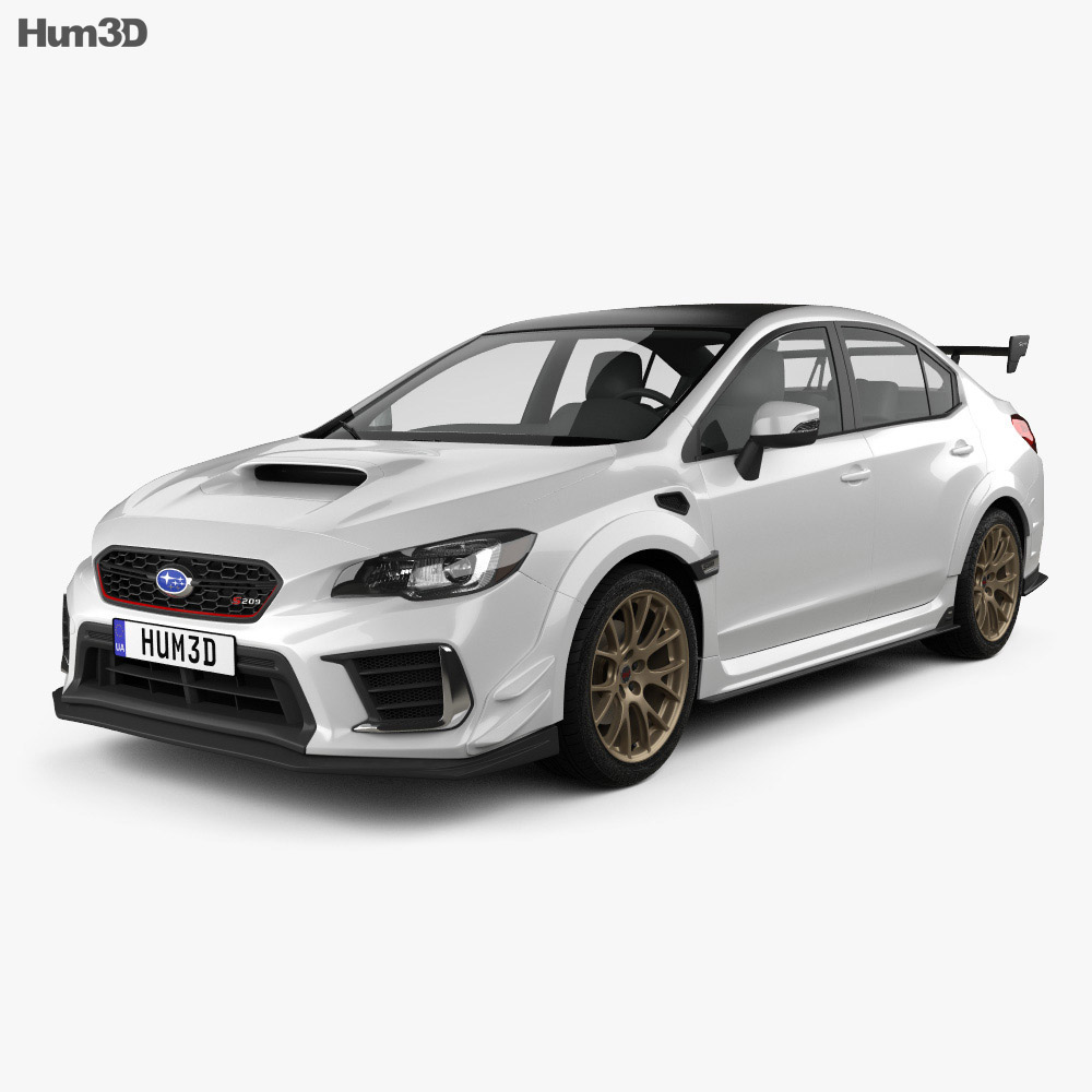 Subaru WRX STI S209 US-spec 2019 3d model