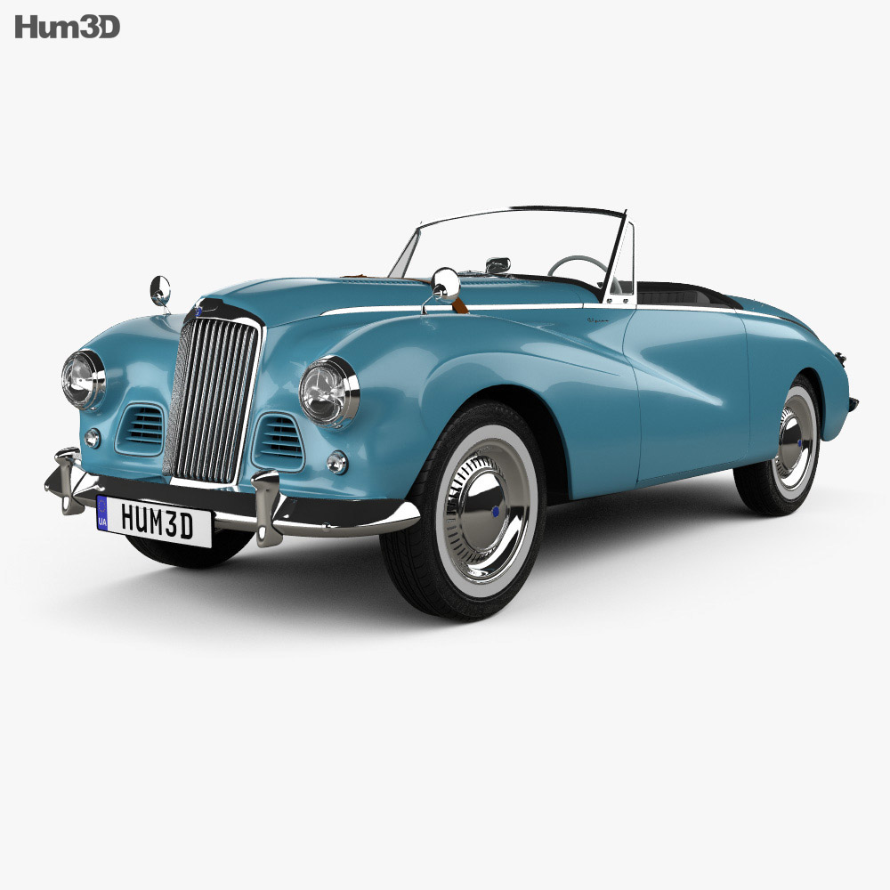 Sunbeam Alpine 1953 3d model