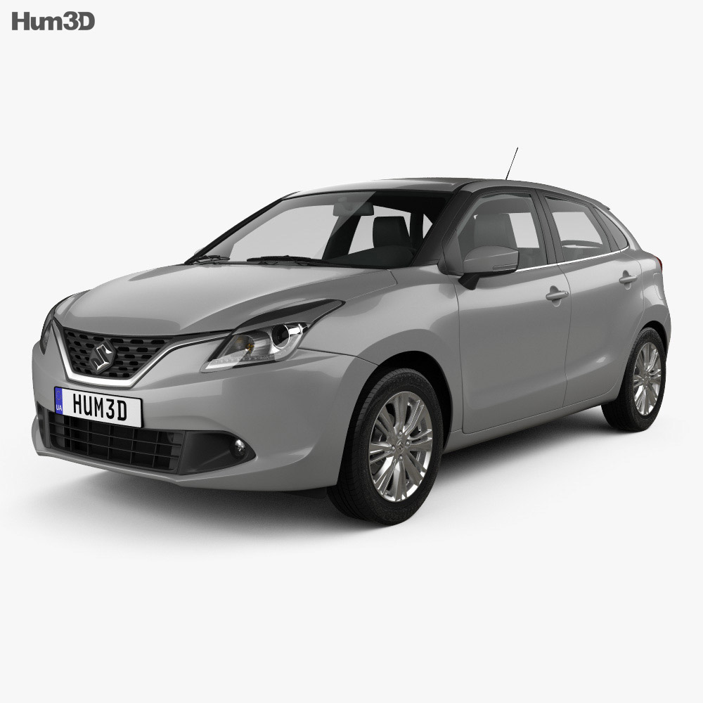 All Types baleno car images : Suzuki Baleno 2015 3D model - Hum3D