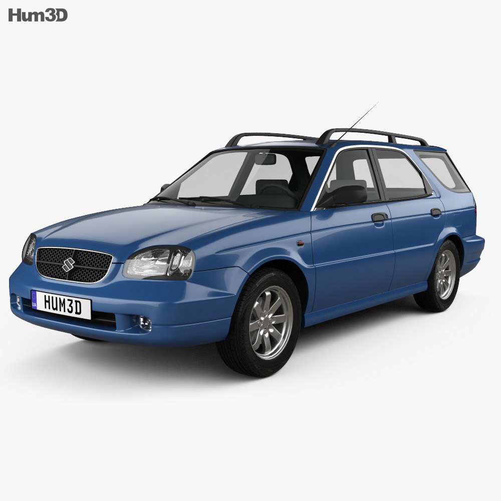 Suzuki Baleno Esteem 1999 3D Model