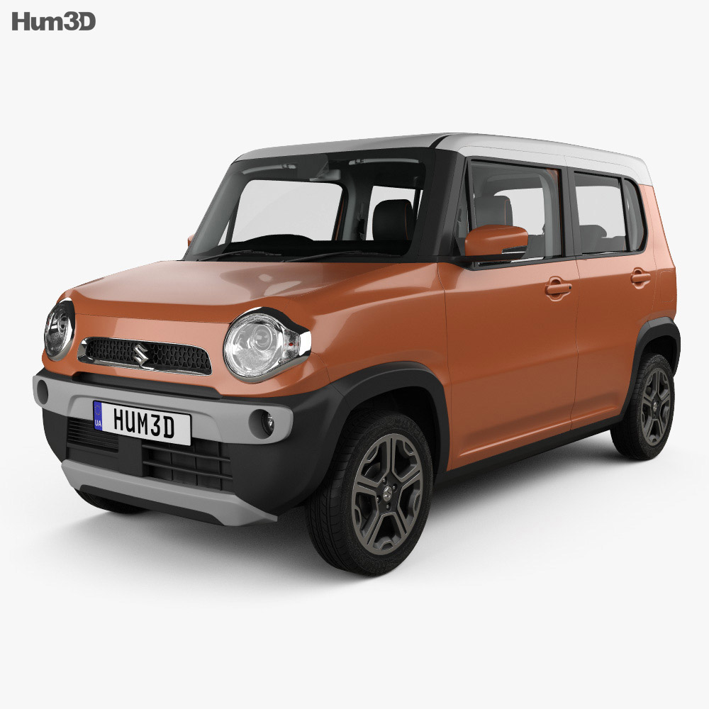 Suzuki Hustler with HQ interior 2013 3d model