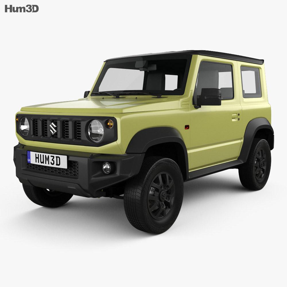 suzuki jimny sierra 2019 3d model vehicles on hum3d. Black Bedroom Furniture Sets. Home Design Ideas