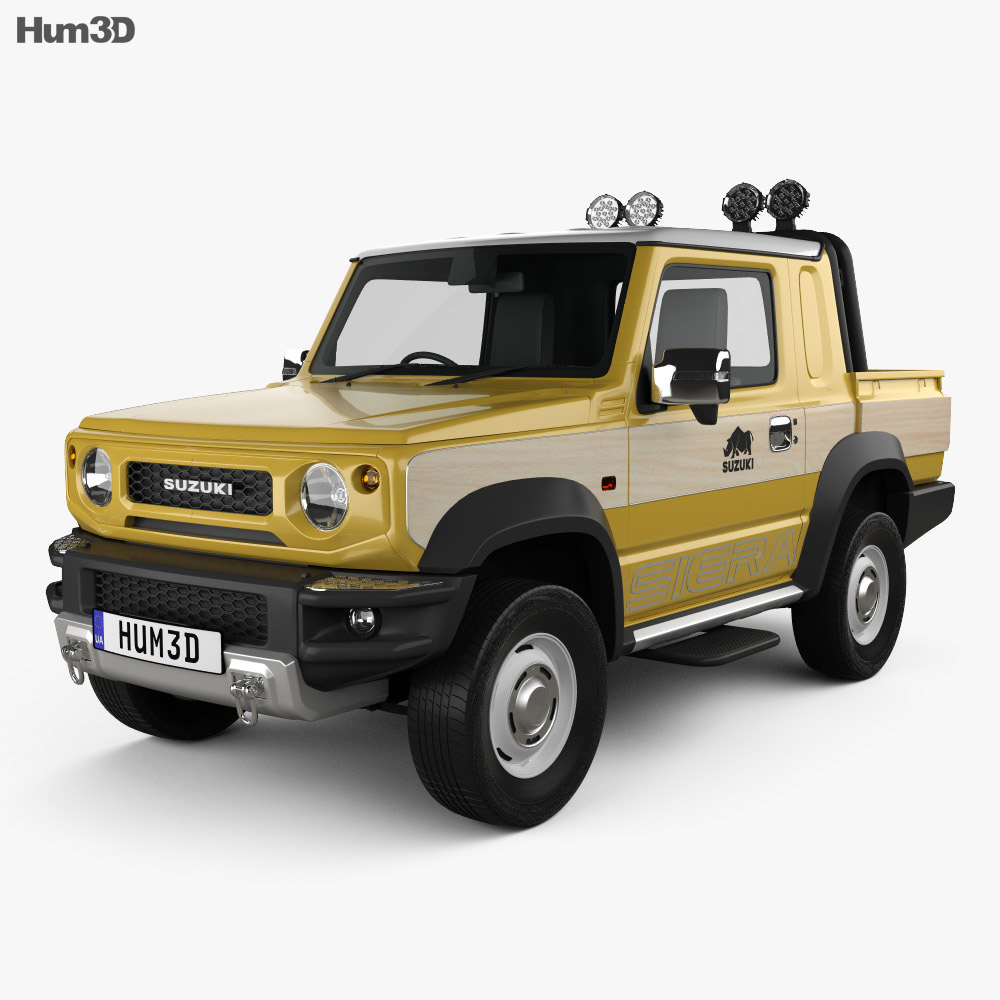 Suzuki Jimny Sierra Pickup 2019 3D model - Vehicles on Hum3D