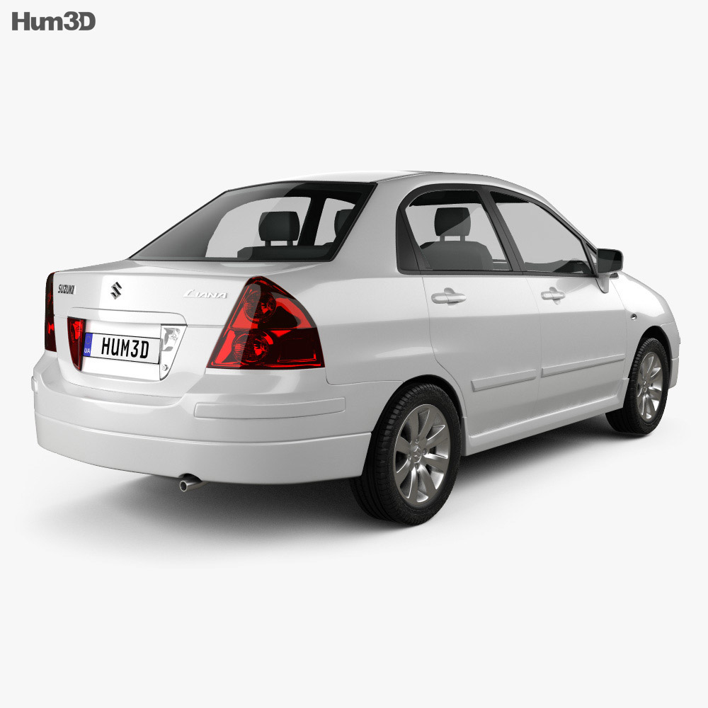 Suzuki Liana sedan 2004 3d model
