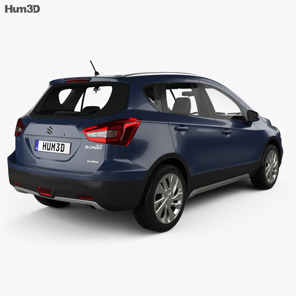 Suzuki SX4 S-Cross with HQ interior 2016 3d model back view