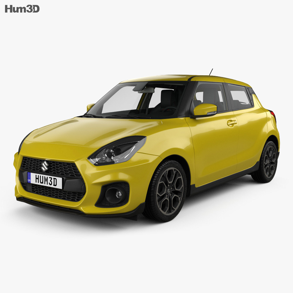 Suzuki Swift Sport with HQ interior 2017 3d model