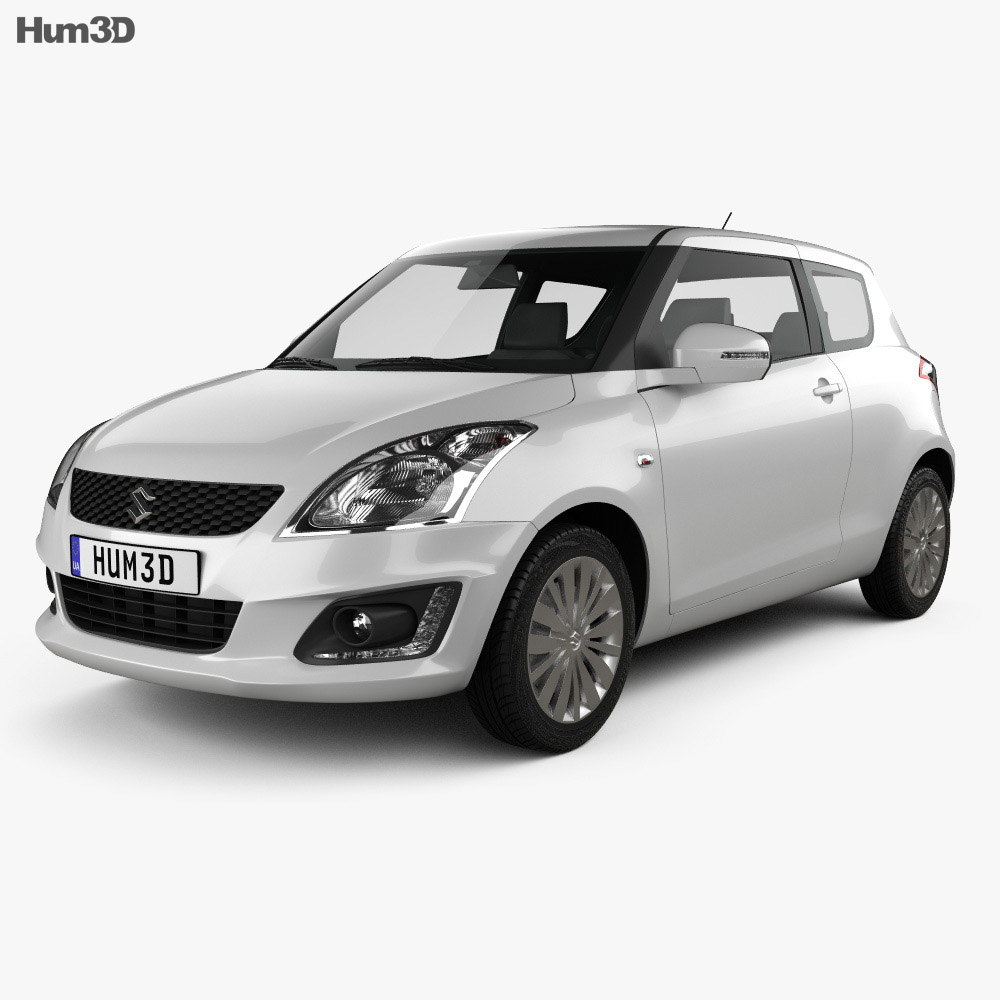 Suzuki Swift hatchback 3-door 2014 3d model