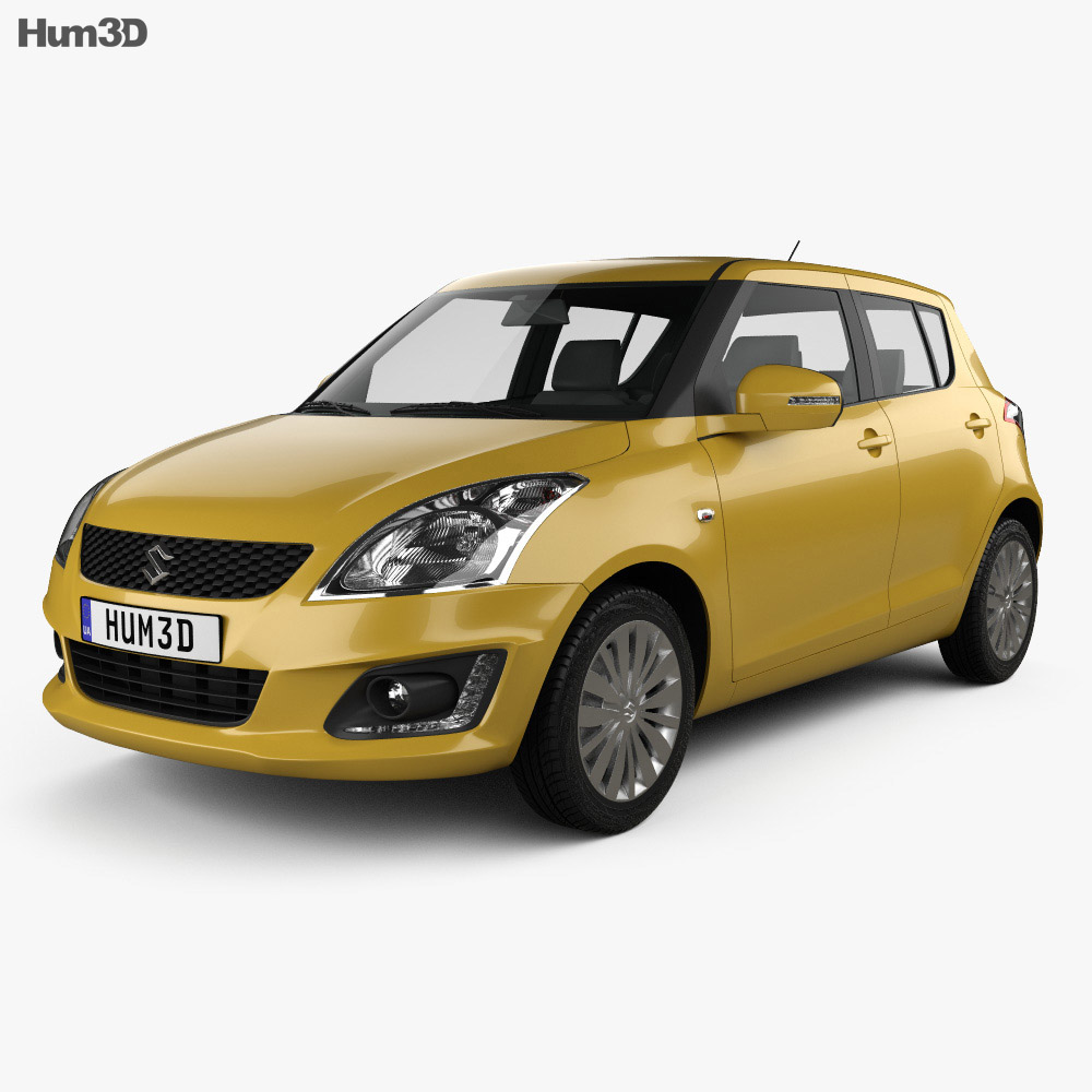 Suzuki Swift hatchback 5-door 2014 3d model