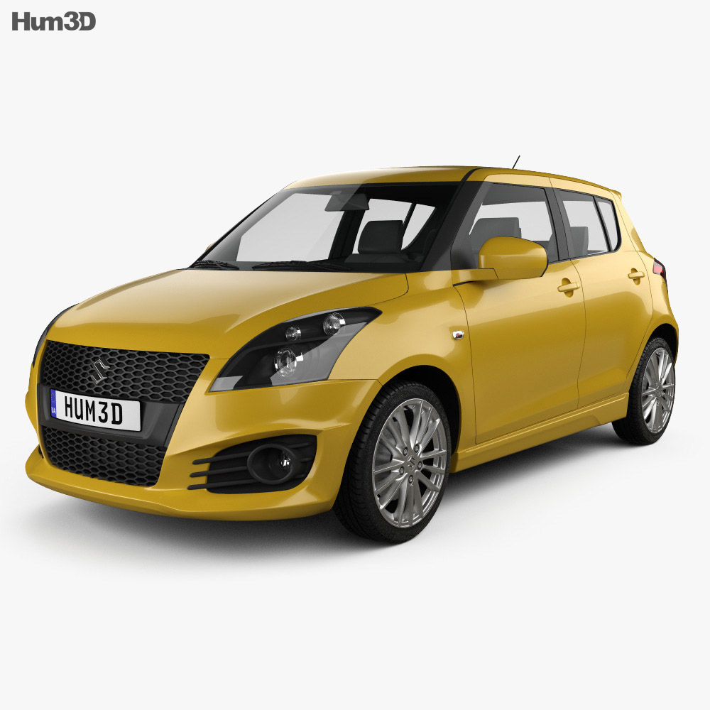 Suzuki Swift Sport hatchback 5-door 2014 3d model