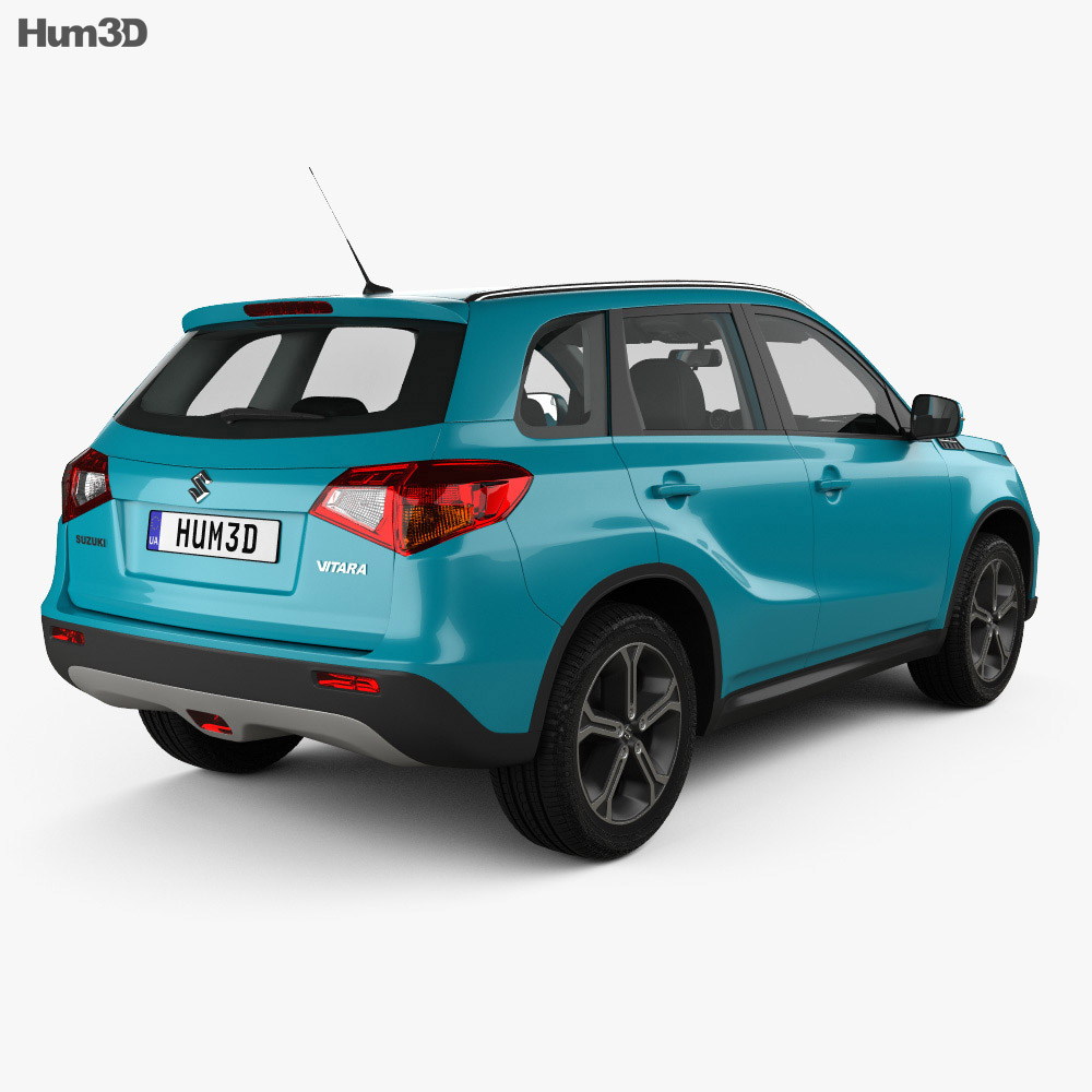 Suzuki Vitara (Escudo) with HQ interior 2015 3d model