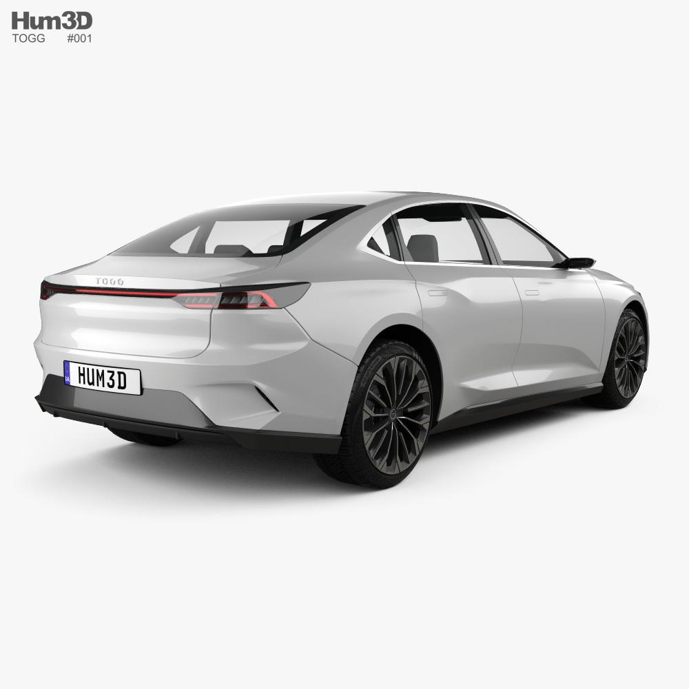 TOGG sedan 2022 3d model