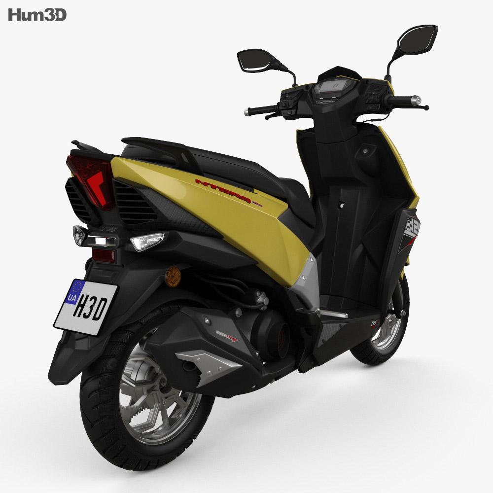 TVS Ntorq 125 2018 3d model