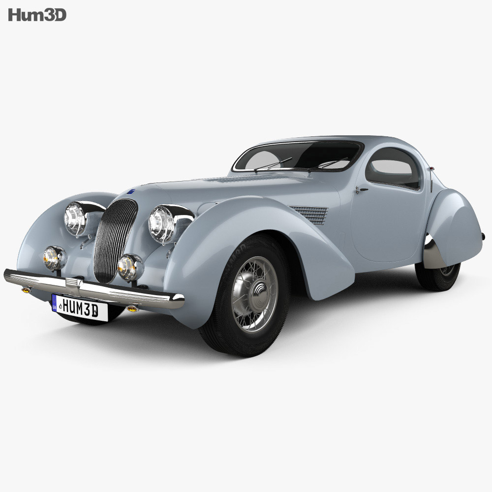 Talbot-Lago Teardrop Coupe 1938 3d model