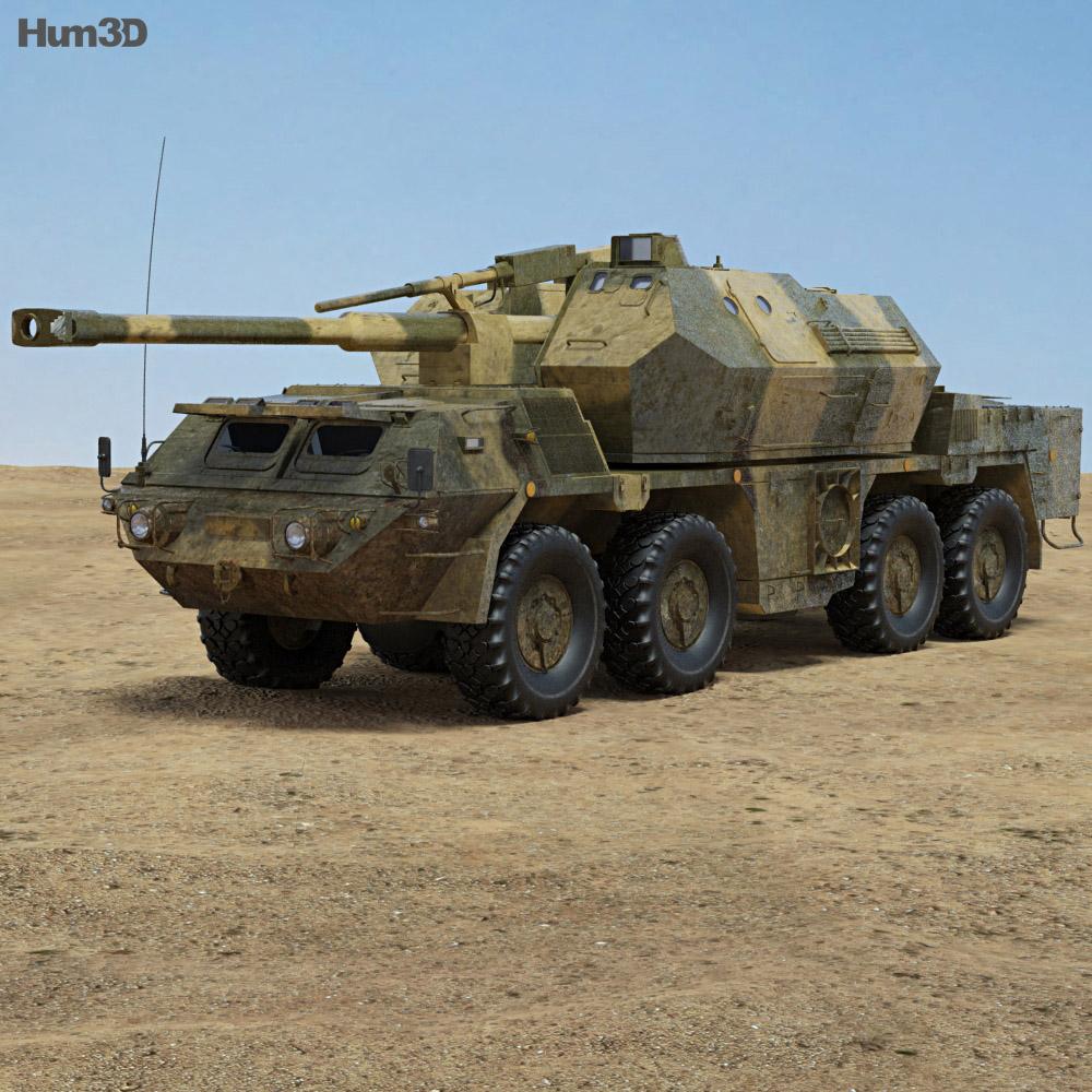 152mm SpGH DANA 3d model
