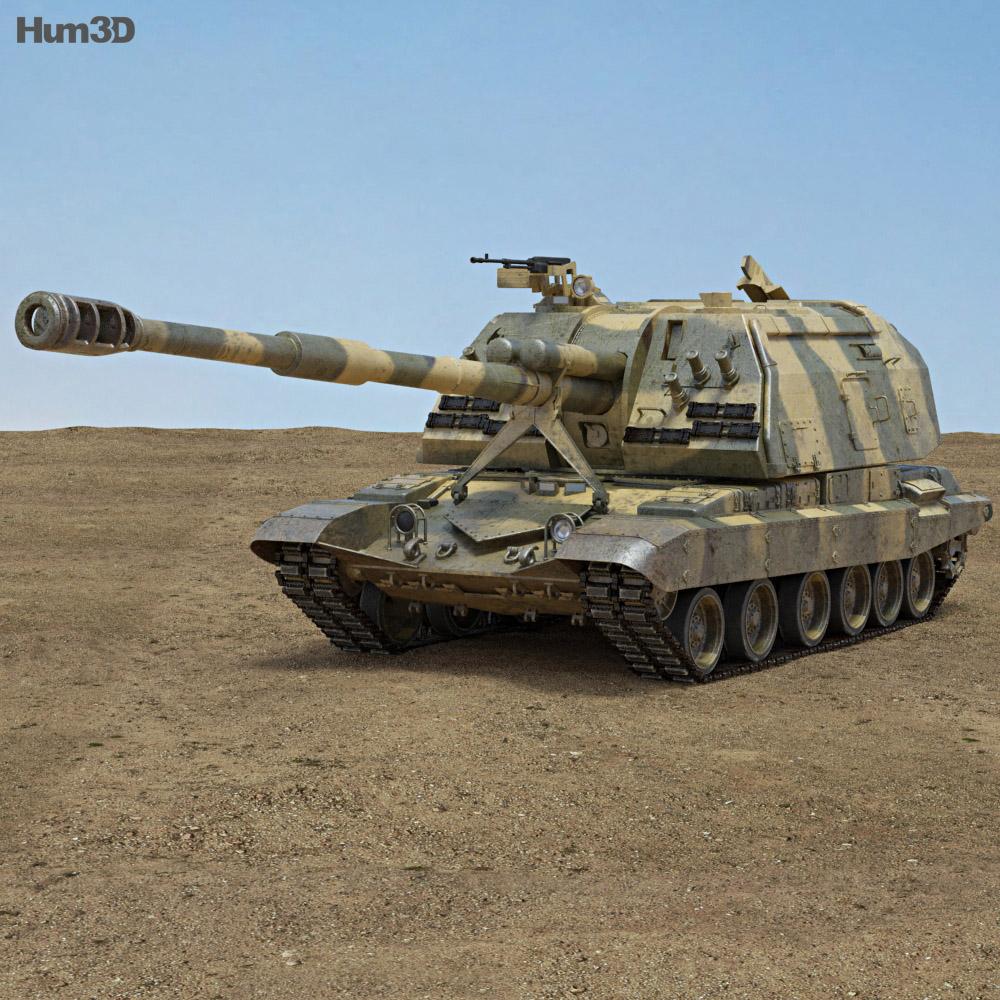 2S19 Msta-S 3d model