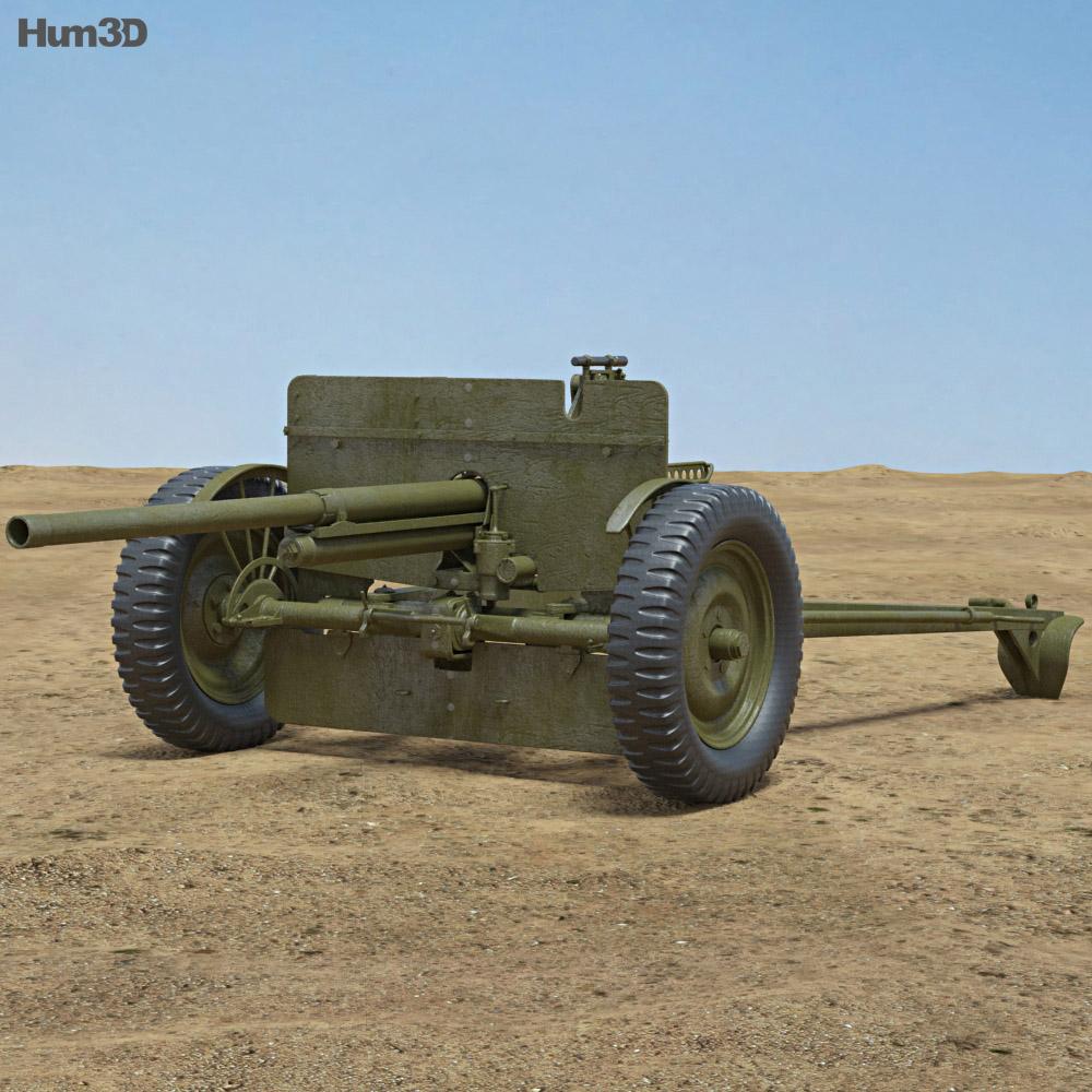 37 mm Gun M3 3d model