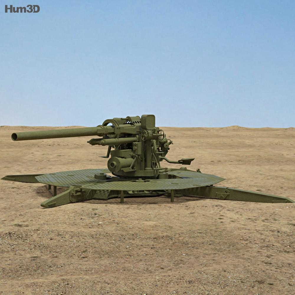90 mm Gun M1 3d model