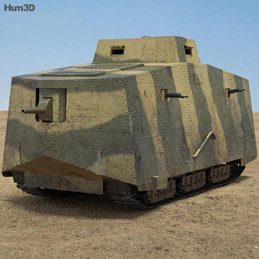 Discount Car Parts >> A7V Sturmpanzerwagen 3D model - Hum3D