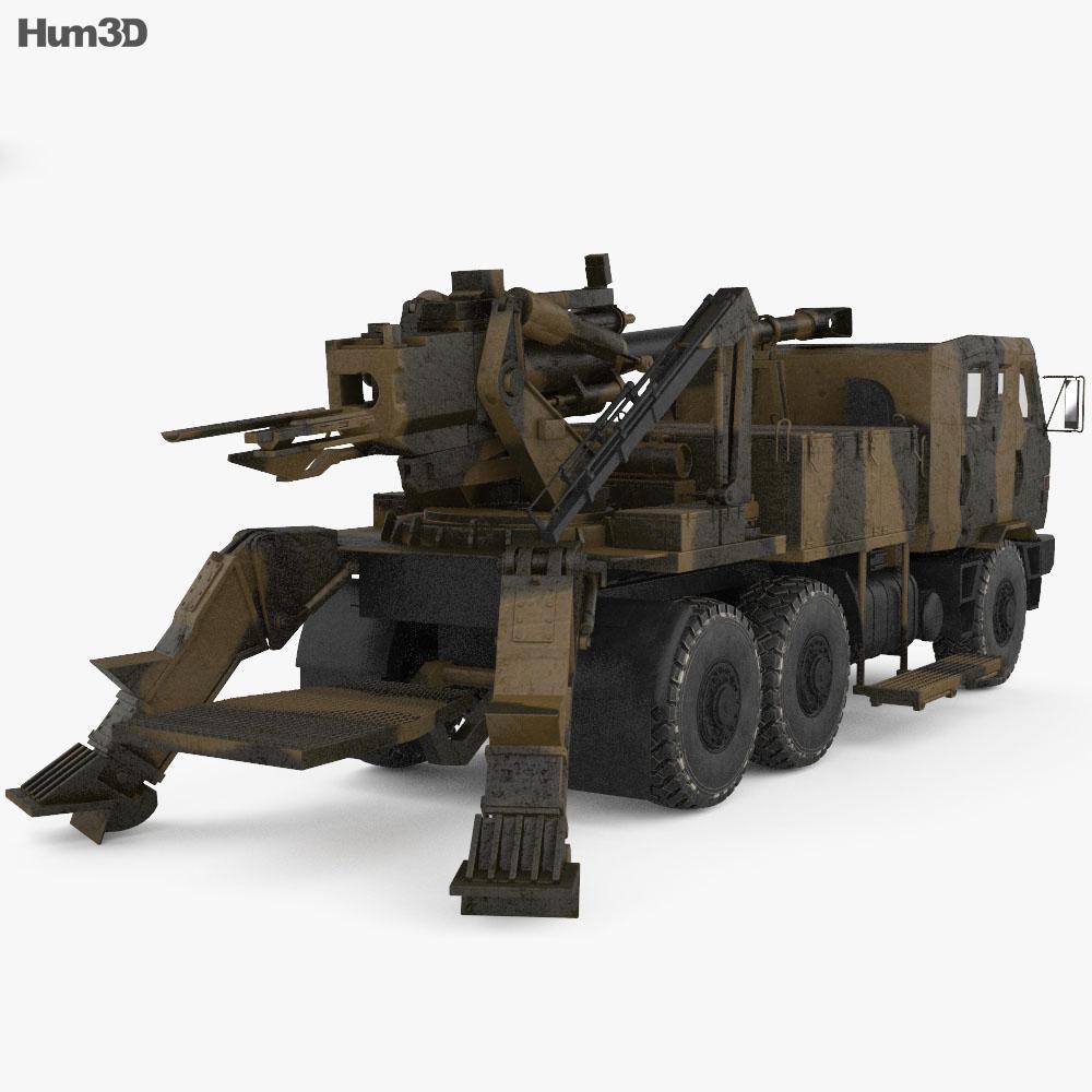 ATMOS 2000 Self-propelled Gun 3d model