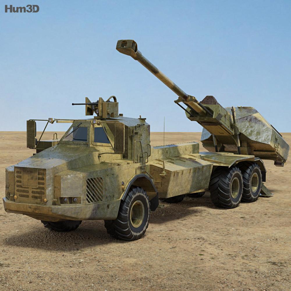 Archer Artillery System 3d model