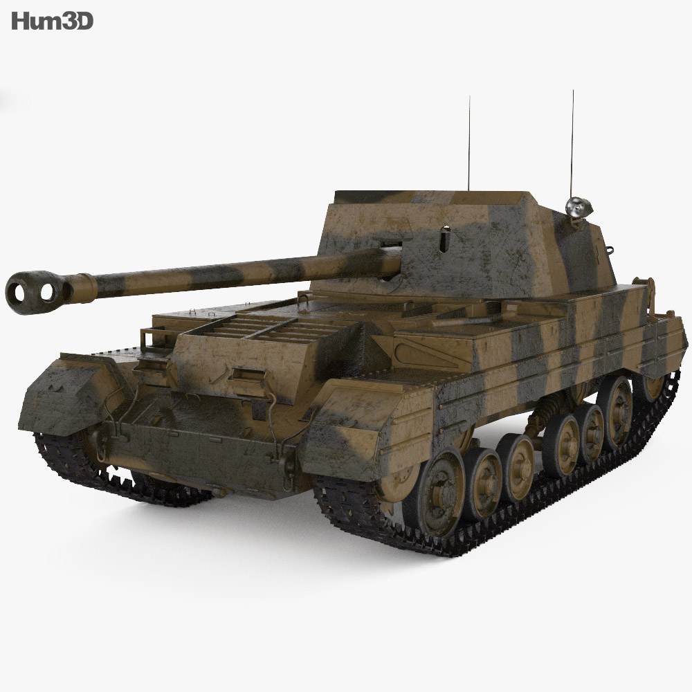 Archer tank destroyer 3d model