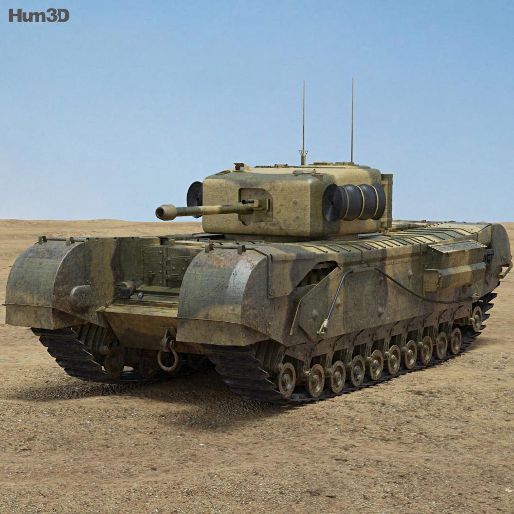 Churchill Mk IV 3d model