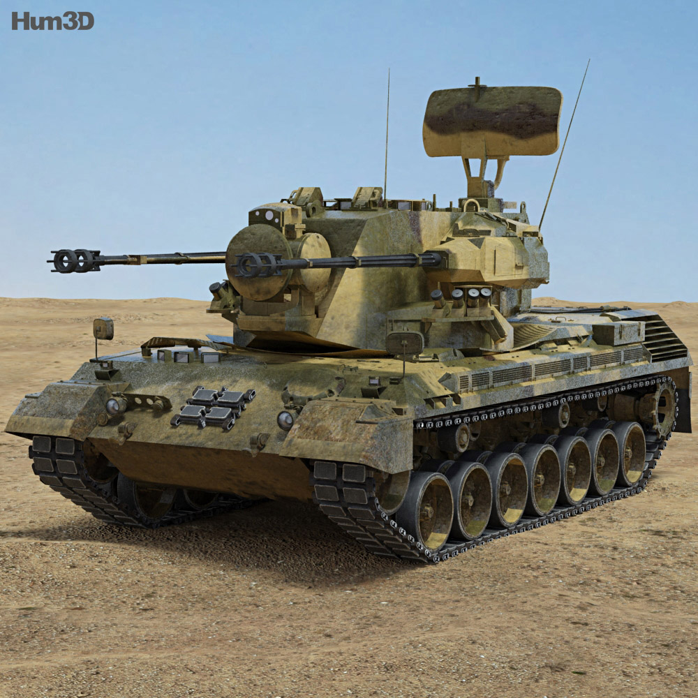 Flakpanzer Gepard 1A2 3d model