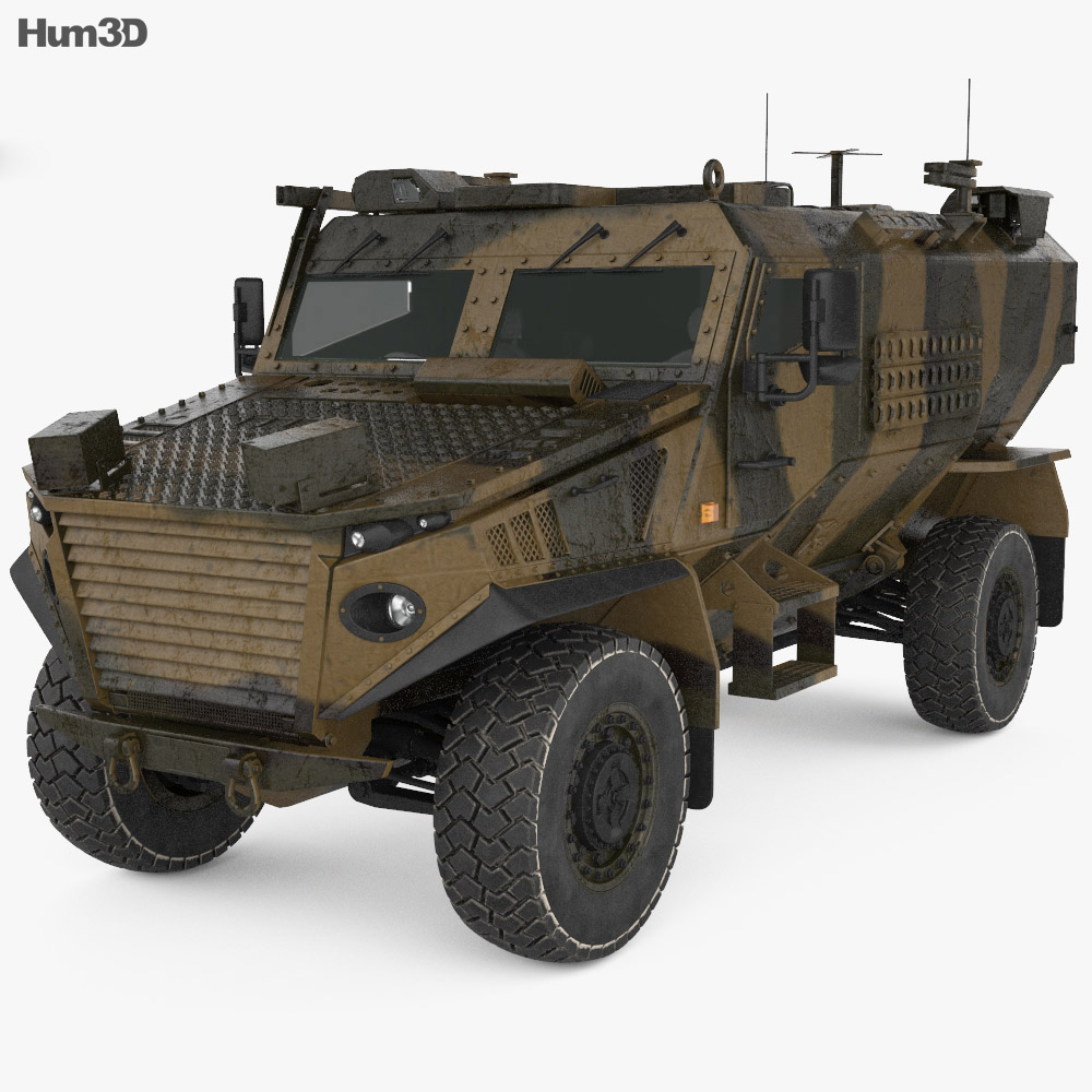 Force Protection Ocelot 3d model